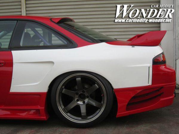 Glare Silvia S14 Zenki GT Rear Fenders 50mm