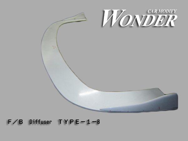 Glare Front Bumper Diffuser Option Type 1B