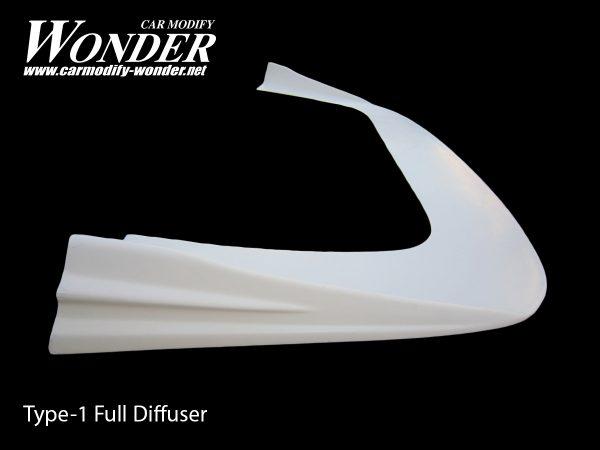 Glare Front Bumper Full Diffuser Type 1